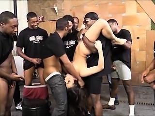 Busty hoe Valentina Nappi enjoying many huge black cocks