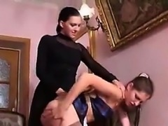 Maid Gets Fucked By A Strapon