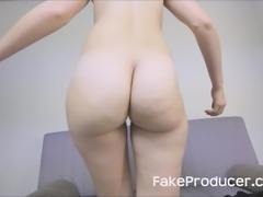 Tall Blonde Sucking Off The Fake Producer