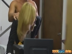 Blonde milf becomes a prostitute in a pawn shop free