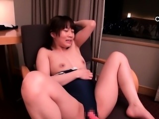 Petite japanese beauty playing with two dicks