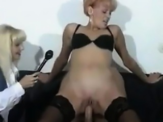 Mature German Woman Riding On A Cock