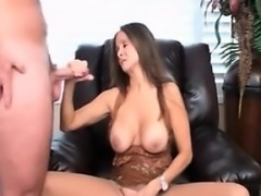 Step mom sucking her step son cock