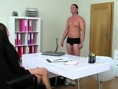 Amateur boxer fucks female agent on casting