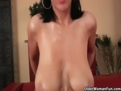 Soccer mom with big tits gets fucked free