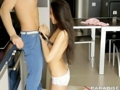 PARADISE FILMS Gorgeous Teen fucked in the kitchen