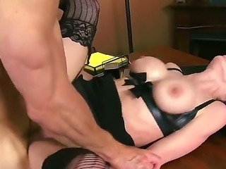 Dark haired hot MILF Veronica Avluv in sexy black lingerie is a sex starved woman with big breasts and tight clean pussy. She shows her love for fucking  as she gets her hole banged hard by her dirty boss.