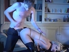 Long haired blonde in black stockings and high heels gets her dripping wet pink hole filled with fat throbbing dick in steamy episode from XXX porn parody. Watch her get impaled on dick!