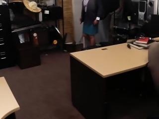 Busty amateur brunette wife fucked to earn a lot of cash