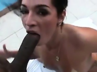 Phat Booty Brazilian Banged Outside By A Pool