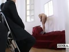 Subtitled Japanese CMNF nudist violin recital stripping