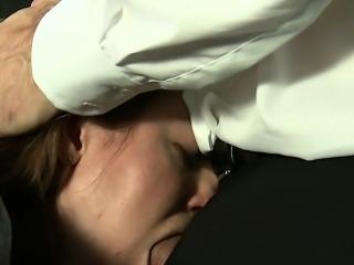 Busty gagged slave anal banged in bdsm