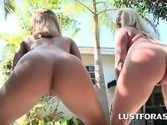 Fine ass blonde hookers sucking dicks in nasty foursome