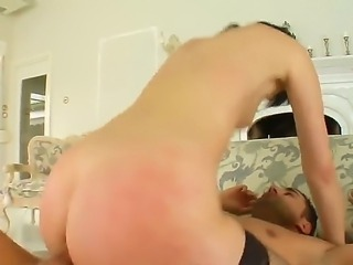 Leggy brunette Lora Row in black stockings gets her perfectly shaped ass fucked outside and indoors in great anal sex video. She gets her butthole stuffed again and again for your viewing entertainment!
