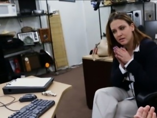 Business woman banged at the pawnshop for a plane ticket