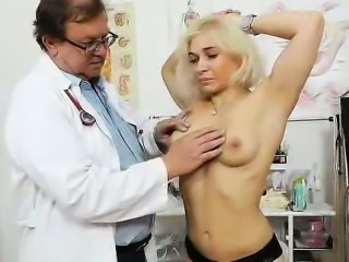 The physician cleans the mess up inside Sandy tight ass
