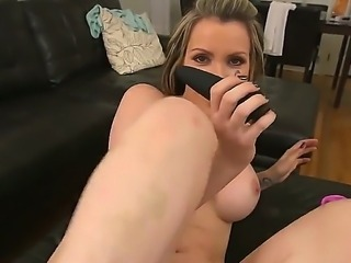 Shaved pussy mom Courtney Cummz takes tops in her asshole