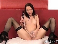 Delighting pussy with vacuum