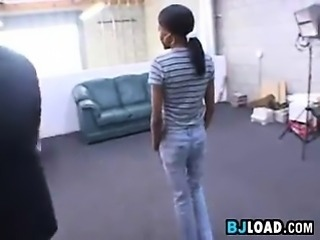 Amateur Black Cutie At A Casting Call