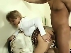 Rough Double Penetration For A Dirty Blonde