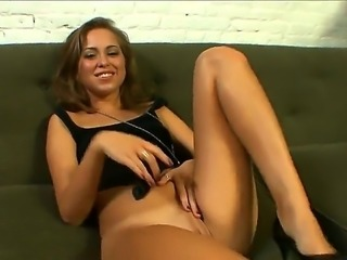 Small titty girl Riley Reid spread her legs wide open and fingers her sexy...