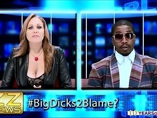 Talk show host deepthroats ebony cock