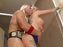 Earthmoving fuck with busty MILF Kate Frost and hot guy Johnny Sins