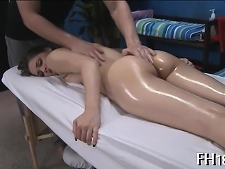 Attractive gal is playing with shlong