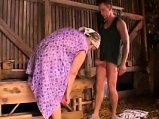 Fat And Horny Granny Banged In The Ass