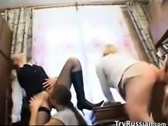 Horny Russian Friends In Hot Foursome