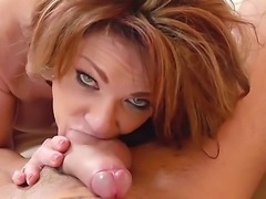 Mature Deauxma with massive fake tits fucking with younger guy