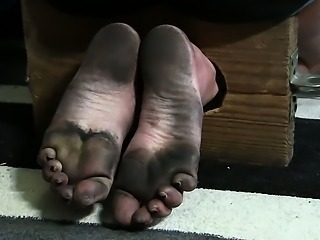 Tied dirty feet