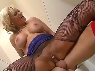 Sex addict Kate Frost is a hot big boobed blonde with dripping wet shaved...
