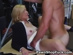 Blonde MILF Fucked And Taking Facial Cumshot In A Pawn Shop free