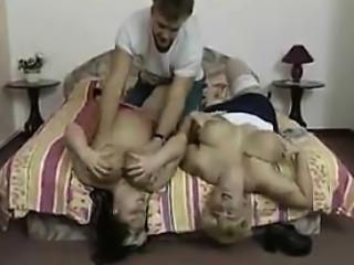 FFM Threesome With Two Big Older Women