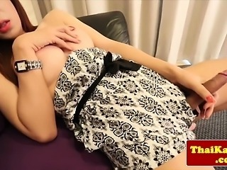Bigtitted ladyboy teases sensually
