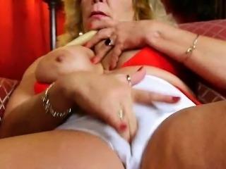 Watching porn ignites grandma\'s lust