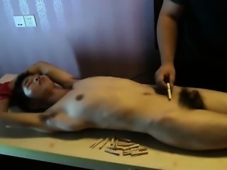 Slim Asian Slave Boy Pain Clips