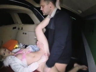 Lynna got dirty as she got fucked in public parking lot