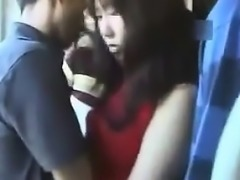 Girl Played With In Public On A Train