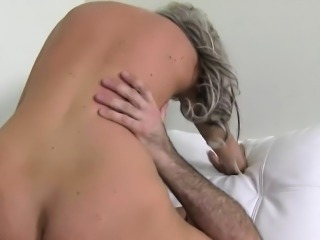 Fake agent fucks blonde amateur babe couch cumshot
