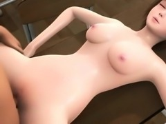 Sensual 3D anime babe gets nailed