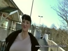 English milf gags on ben Dovers Cock free