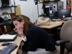 Business woman pawns her pussy and fucked to earn extra cash