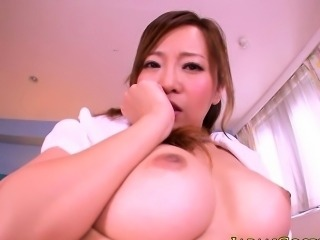 Japanese nurse with bigtits riding dick