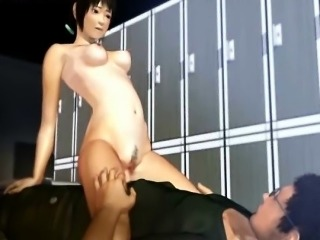 Ravishing animated babe rides hard hammer