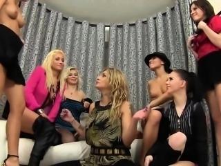 Lesbian group urinates