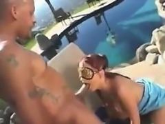 European Redhead Doing Anal Outdoors