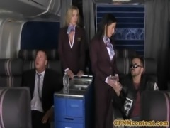 CFNM Tanya Tate joins the mile high club free