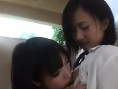 Cute Japanese Schoolgirls Being Naughty